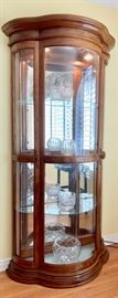 """Lighted and Mirrored, """"ShowOff"""" Case, with Glass Shelves"""