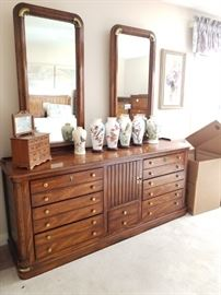 Gorgeous triple dresser with matching pieces