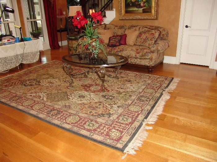 Large Oriental style rug, approx. 7' x 11'