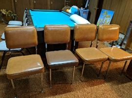 $20 each  brown vinyl chairs  (8 of them)