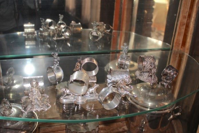 Silver Napkin Holders and other Silver Items