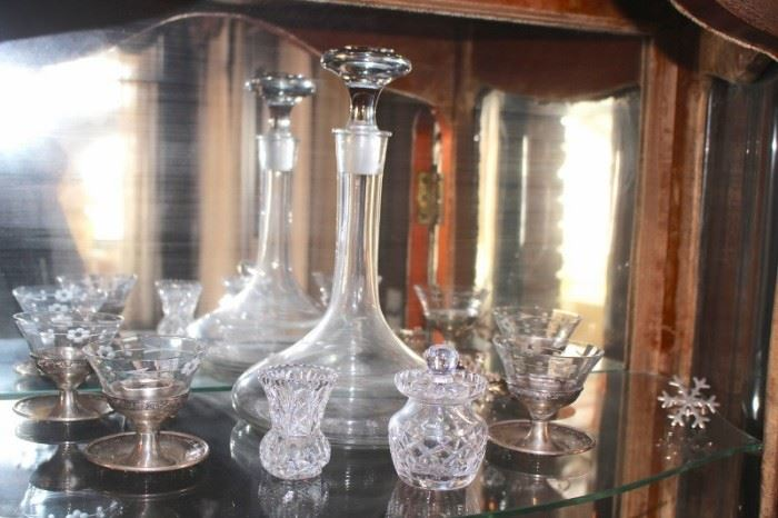 Decanter and Cordial Glasses