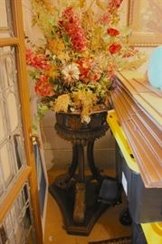 Large Arrangement on Carved Pedestal