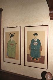 Asian  Arts include Emperor and Empress