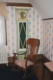 Grandfather Clock and Rocking Chair