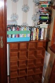 Books & DVDs with Cubby Cabinet