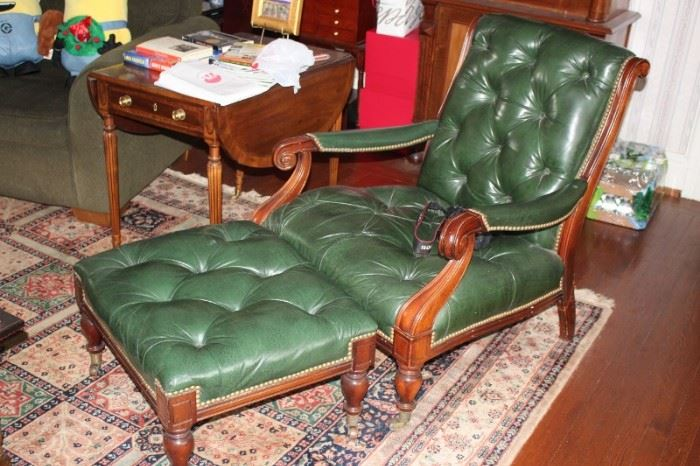 Chesterfield Chair and Ottoman