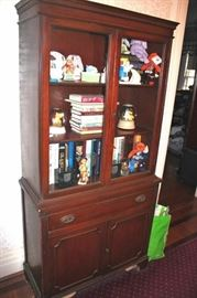 Hutch, Books and Decorative Items