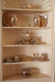 Silver Napkin Holders, and Decorative Items