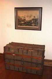 Antique Trunk and Art