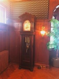 John Wanamaker Grandfather Clock and Wall Sconce