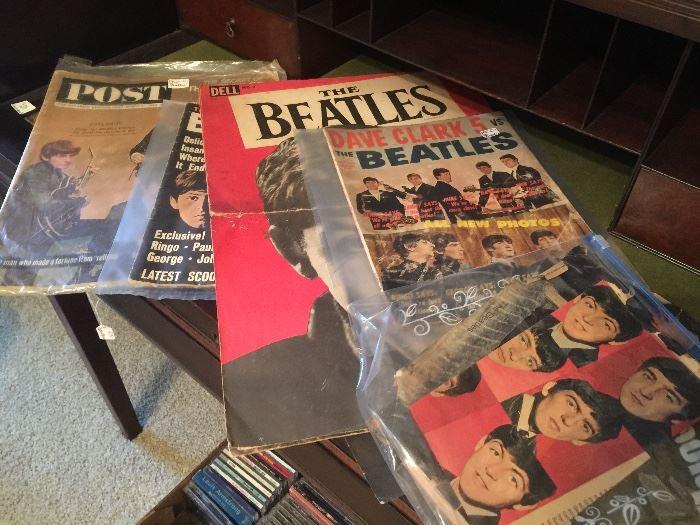 Beatles memorabilia.