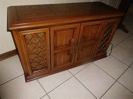 Mid Century phonograph cabinet