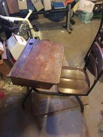 Vintage Student Desk #1