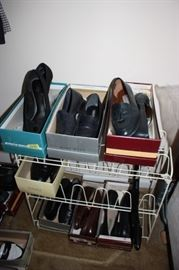 Several designer shoes