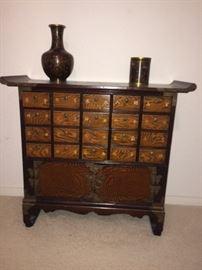 vintage spice chest