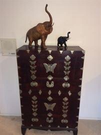 Wonderful pair of vintage stacking cabinets