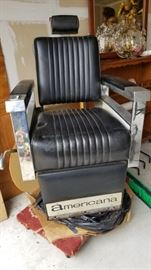 Old Fashioned Americana Barber Chair -
