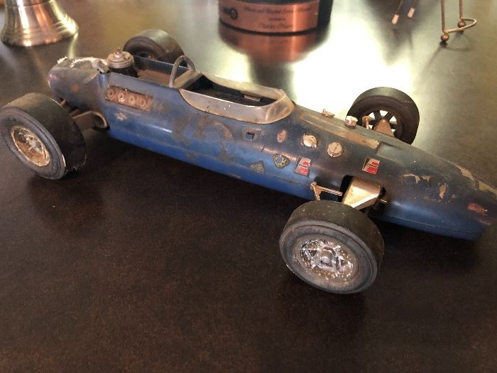 Vintage Gurney Eagle tether engine powered race car by Cox