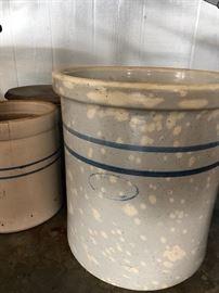 Early 1900's Marshall Pottery Stoneware Crock storage jar