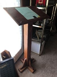 Solid oak book stand