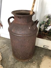 Old milk canister