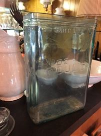 Old Gould glass battery jar