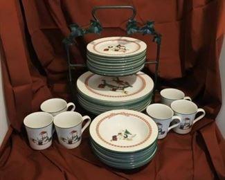 Full Set of Christmas Dishes