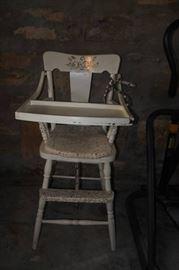 Vintage White High Chair