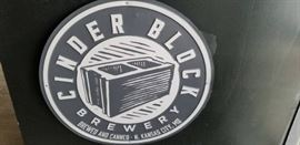 Cinder Block Brewery Tin Sign