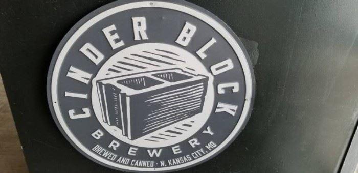 Cinder Block Brewery Tin Sign