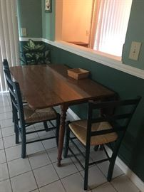 Drop leaf dining table and chairs