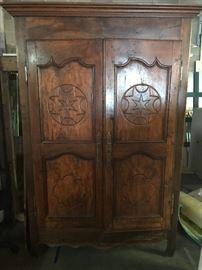 Large primitive armoire