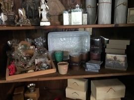 Brand new merchandise from showroom (priced at estate sale prices).  New candles, religious icons collection