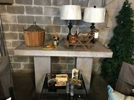 Eco Cement pedestal table (just unpacked)