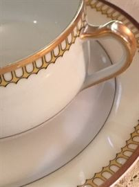 Detail of Limoges china pattern