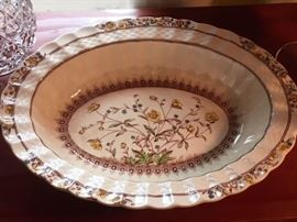 Vintage oval dish in Buttercup pattern, Spode