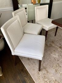 6 Theodores upholstered dining chairs