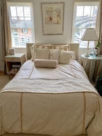 Custom duvet cover, pillows and bolsters