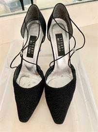 Stuart Weitzman black closed toe evening shoes