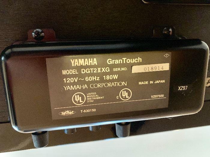 "Yamaha digital ""Gran Touch"" piano.  Model DGT2IIXG"