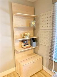 Contemporary shelf/office system