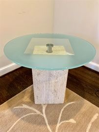 Theodores side table with frosted glass top (1)