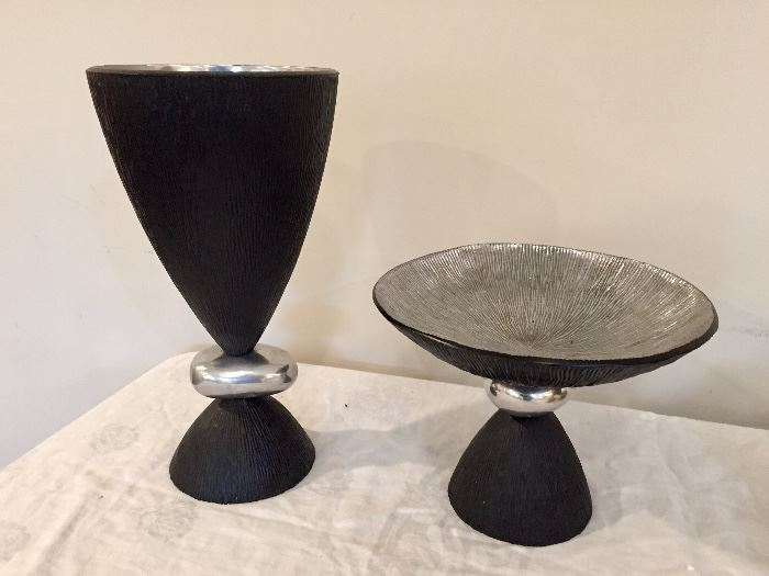 Michael Aram vase (left) and footed bowl (right)