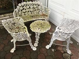 Cast iron patio set