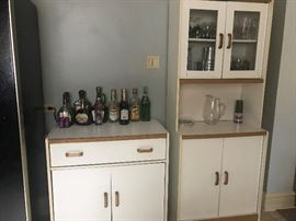 White kitchen storage cabinets priced to sell