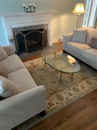 Pottery Barn furnishings in neutral tones