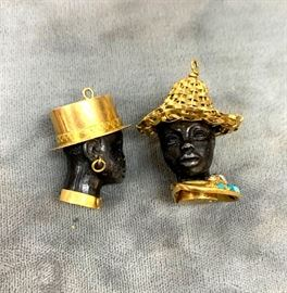 Unusual 18K gold charms
