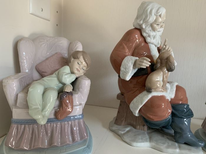 Lladro Night Before Christmas series figurines - most with boxes and certificates