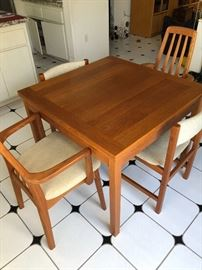 Mid Century Modern Benny Linden Table and Chairs